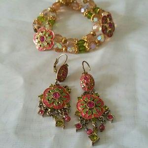 Bohemian Earrings & Bracelet Set